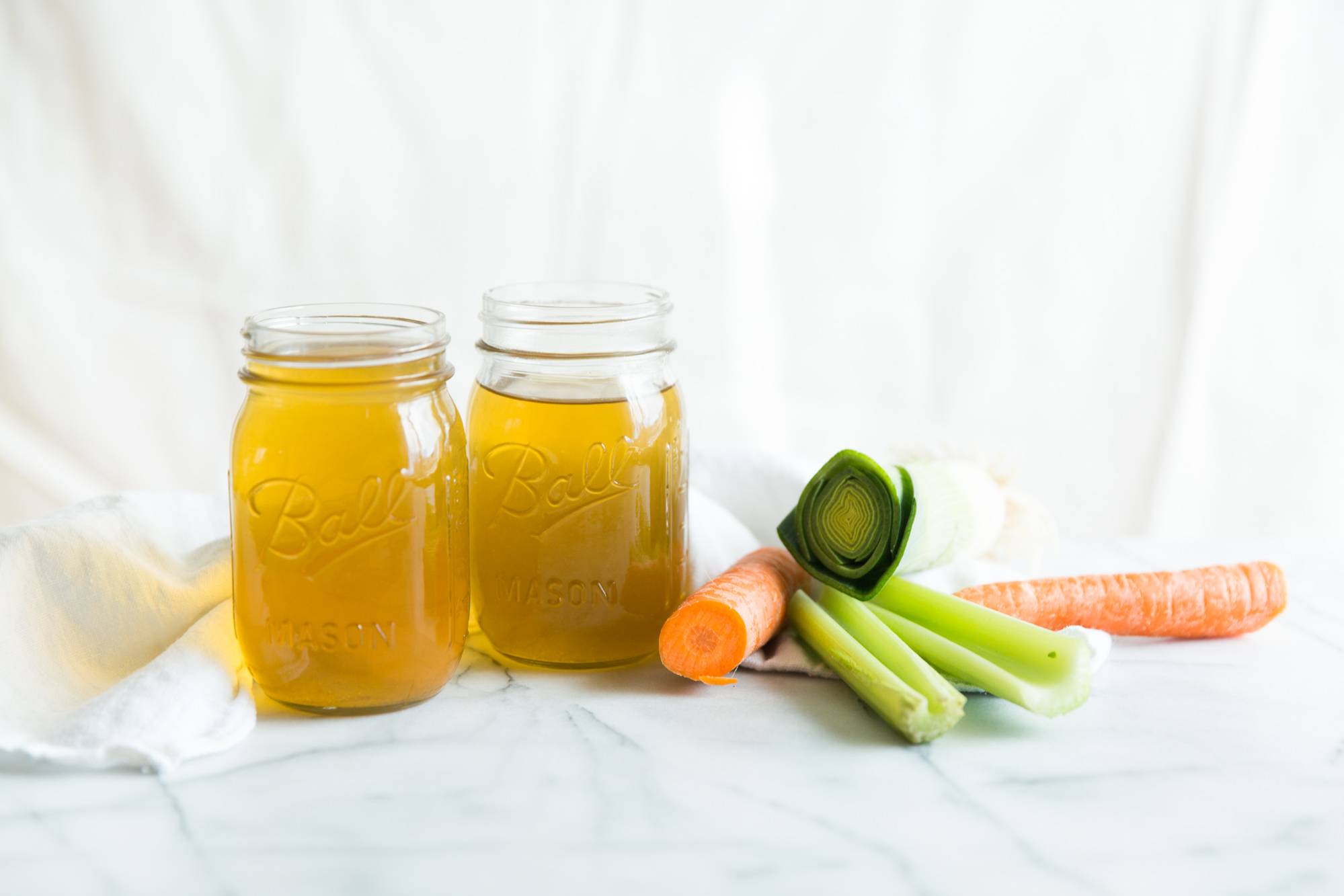 No Waste Vegetable Broth - Quick & Easy Recipe for The Instant Pot, Slow Cooker, or Stove Top