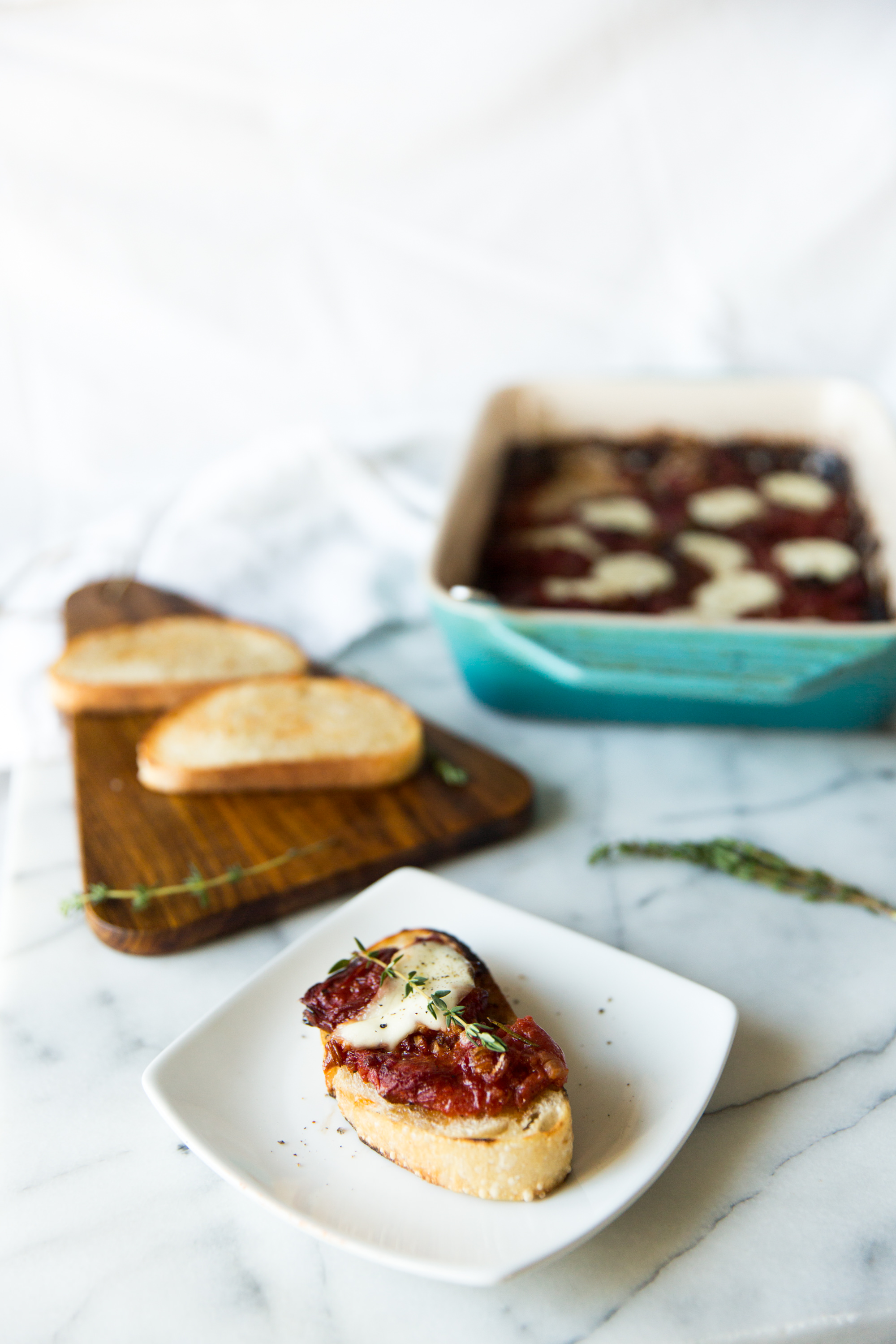 Slow Roasted Tomato Tartines
