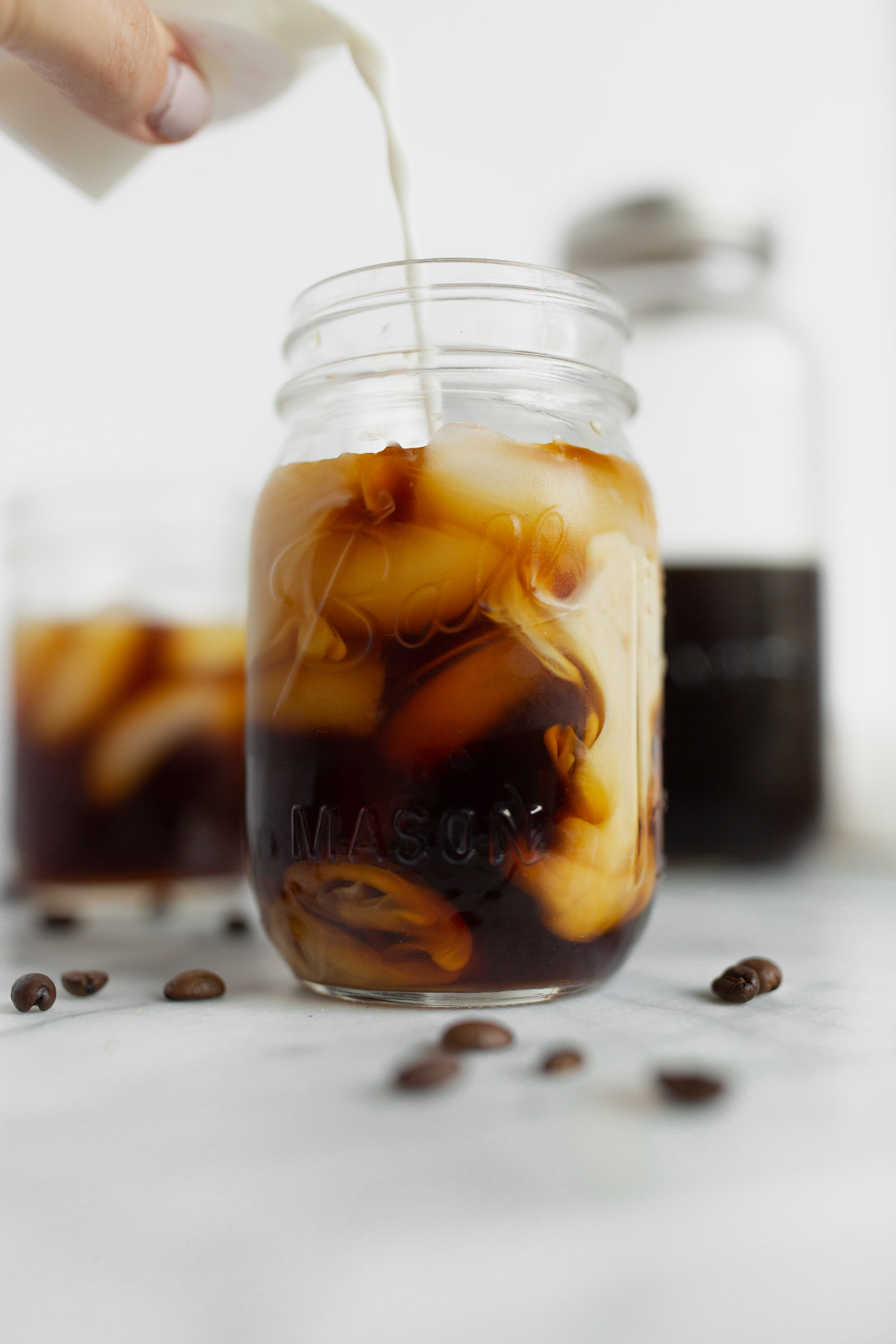 homemade cold brew with milk