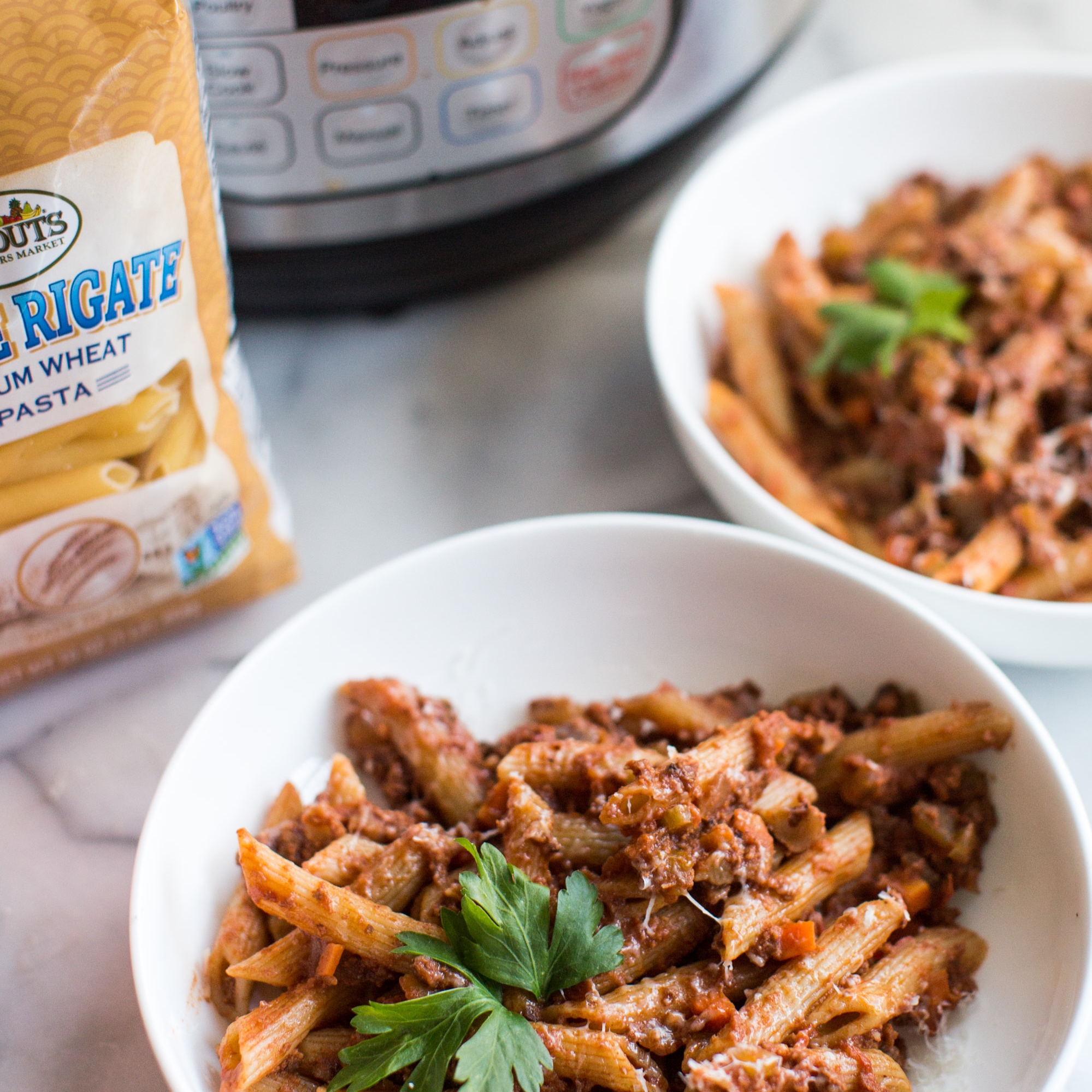Instant Pot Penne Bolognese - A modern twist on a classic.