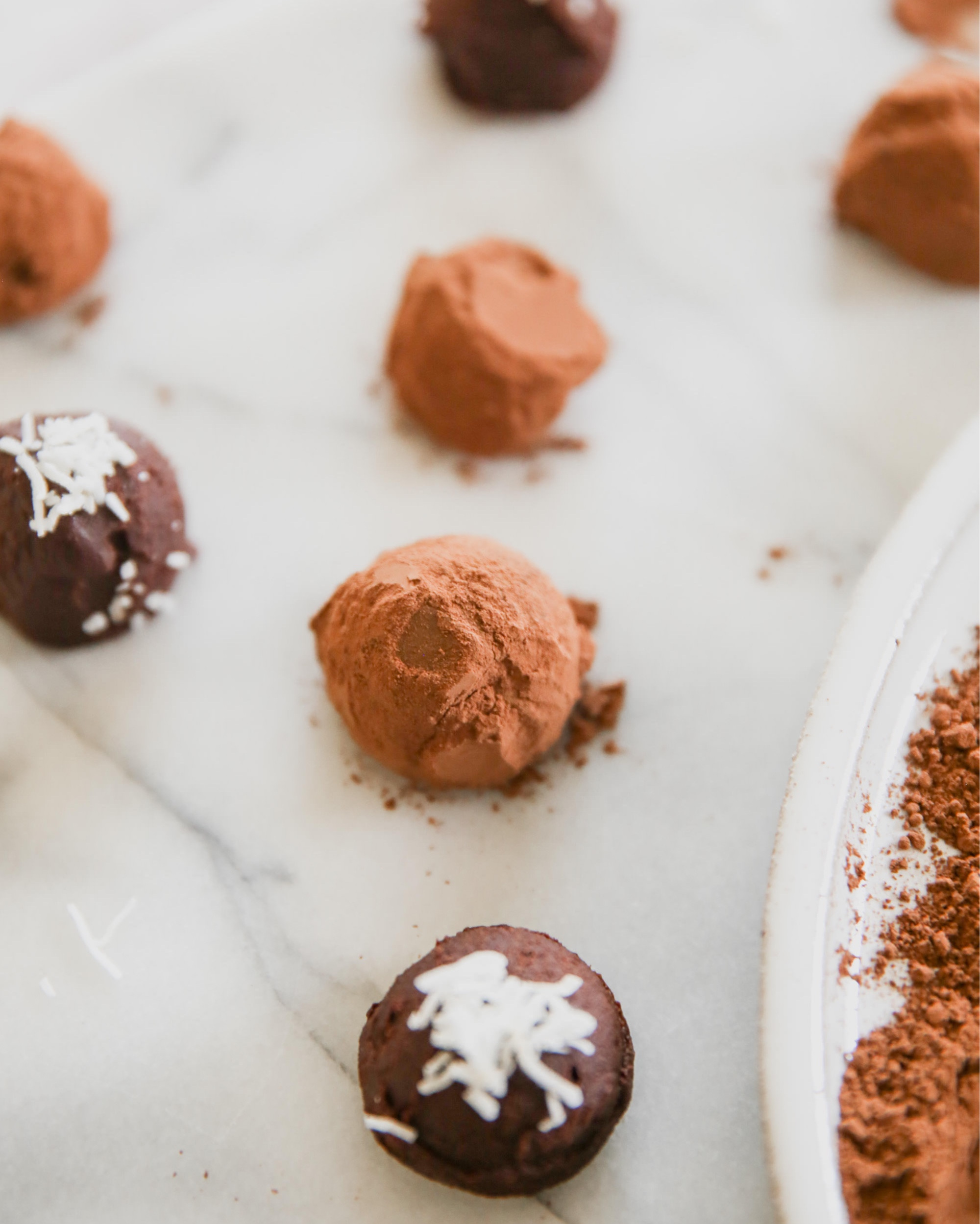 Chocolate Truffles Rolled In Coco Powder