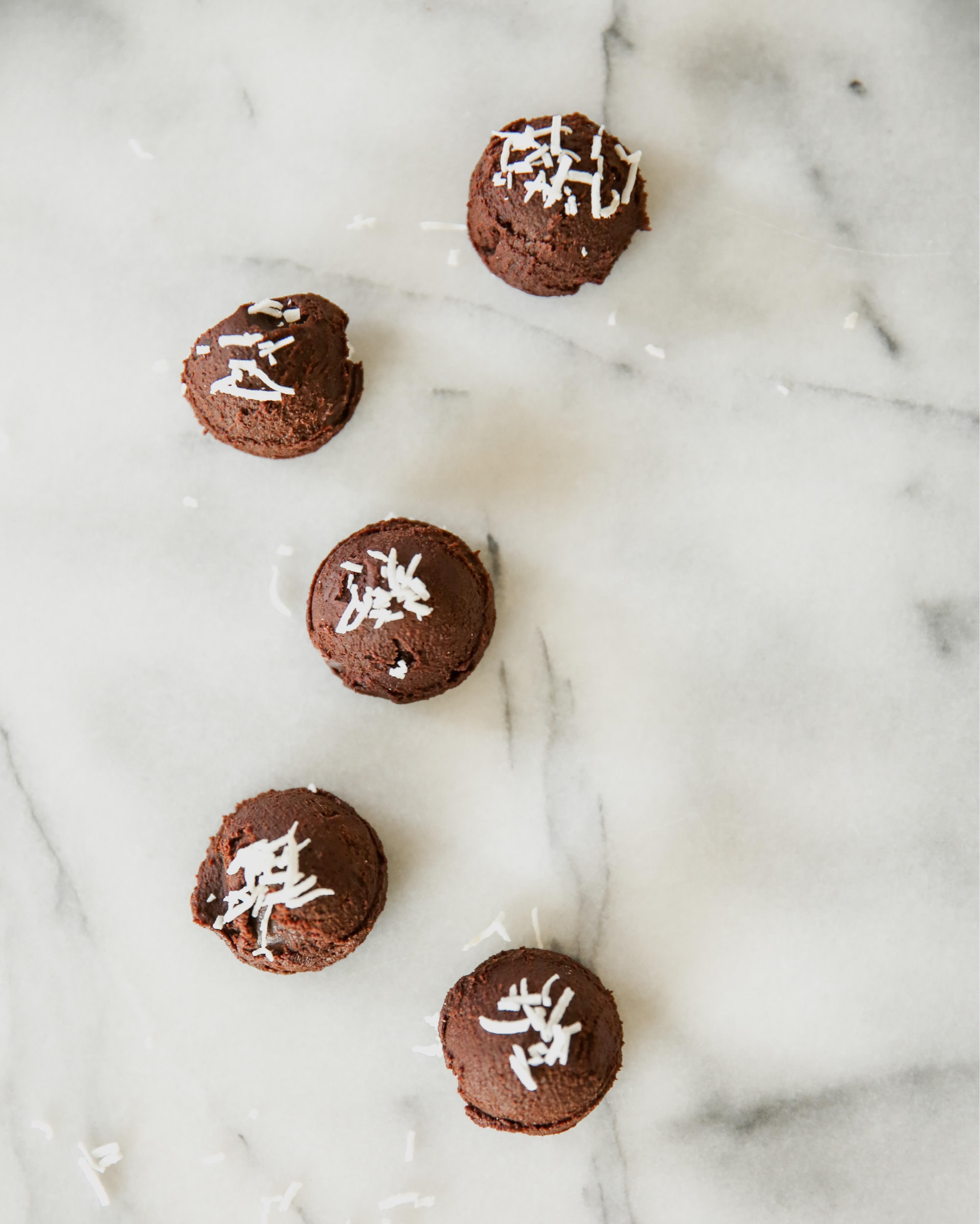 Scattered Authentic Chocolate Truffles
