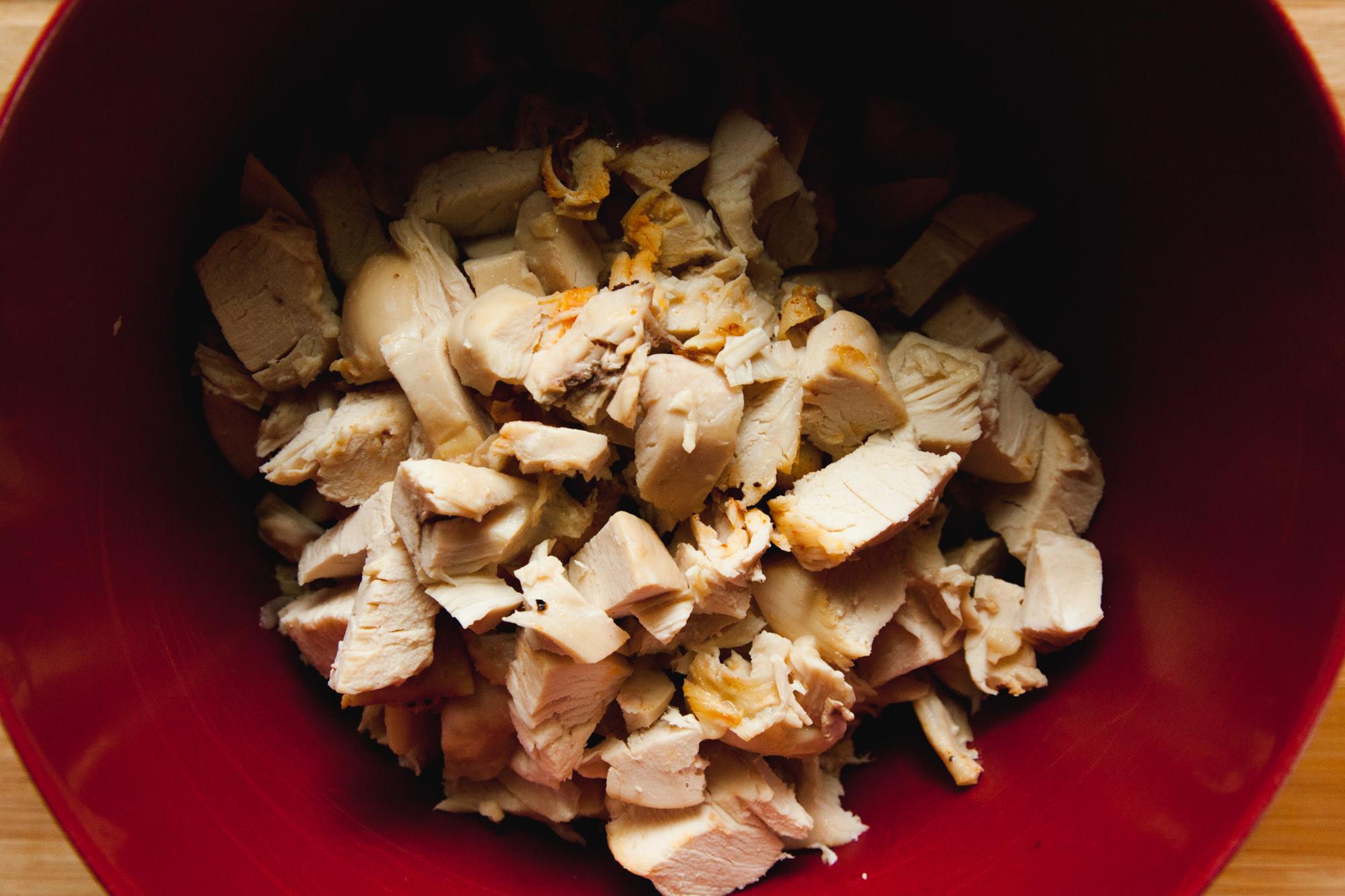 Chopped Rotisserie Chicken For Chicken Salad