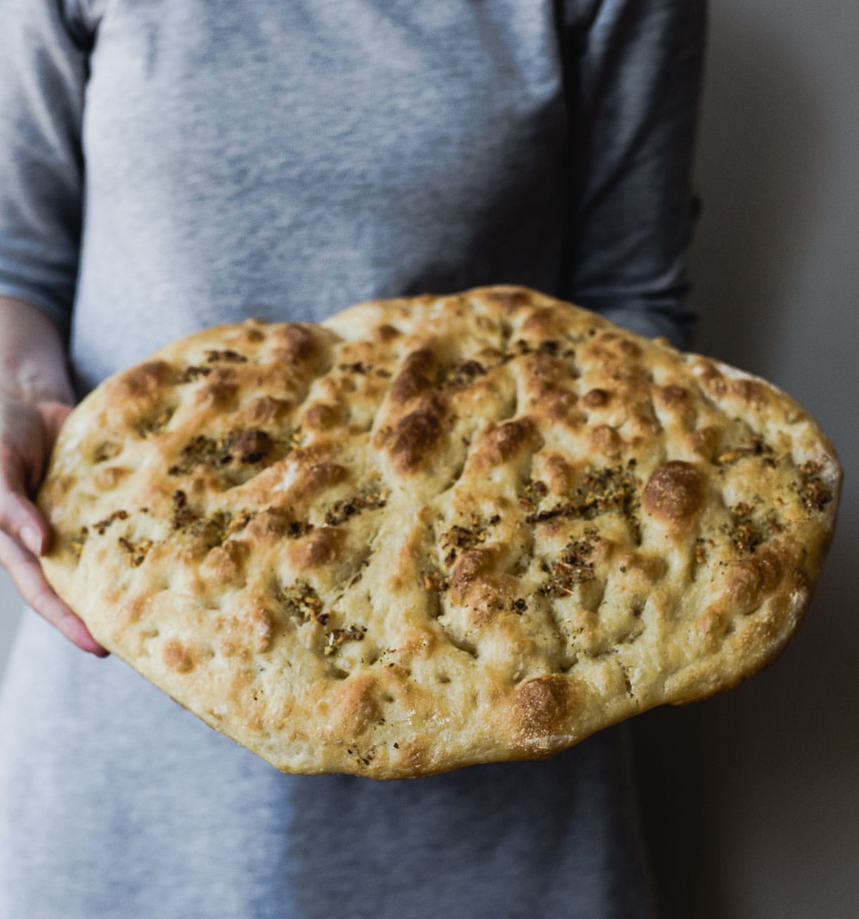Sourdough Foccacia - This herby, fluffy, soft loaf is addicting to say the least. You can use it for breakfast sandwiches, as a side, or as a pizza base.