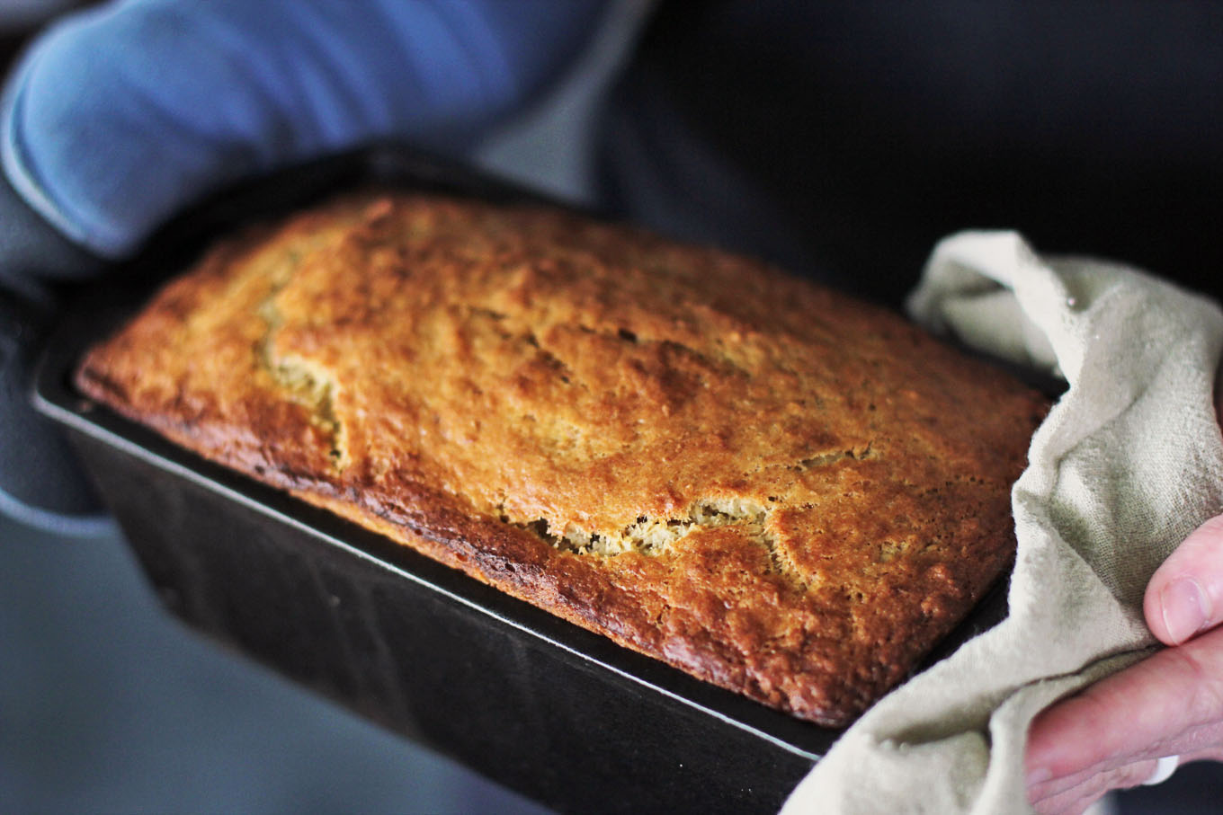 Sourdough banana Bread - The extra touch of sourdough starter turns a regular banana bread loaf into something extraordinary.