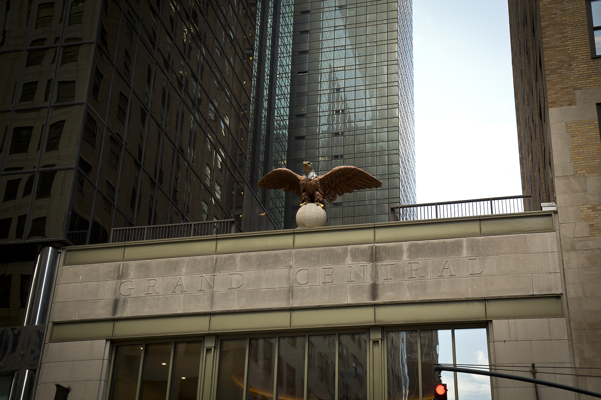 One of the original Grand Central Eagles, which has returned to the station.