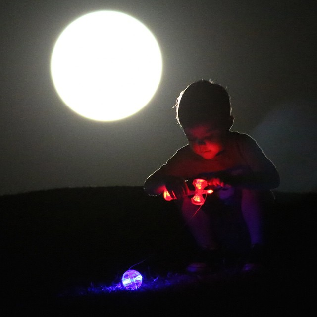 Don't fear the dark... Light up the night! #catchykendama #led #kendama