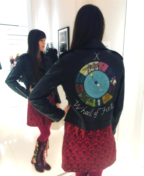 Wheel of Fortune Motherpeace Dior leather jacket