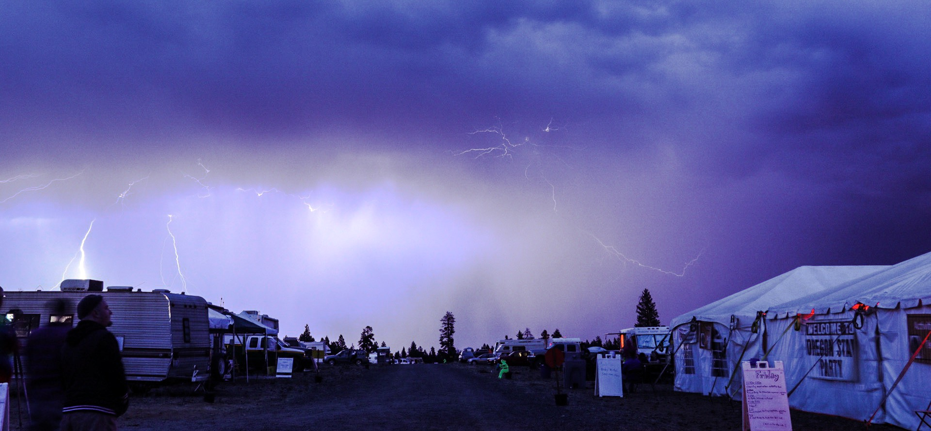 Lightning Storm at the 2016 Oregon Star Party in the Ochoco National Forest