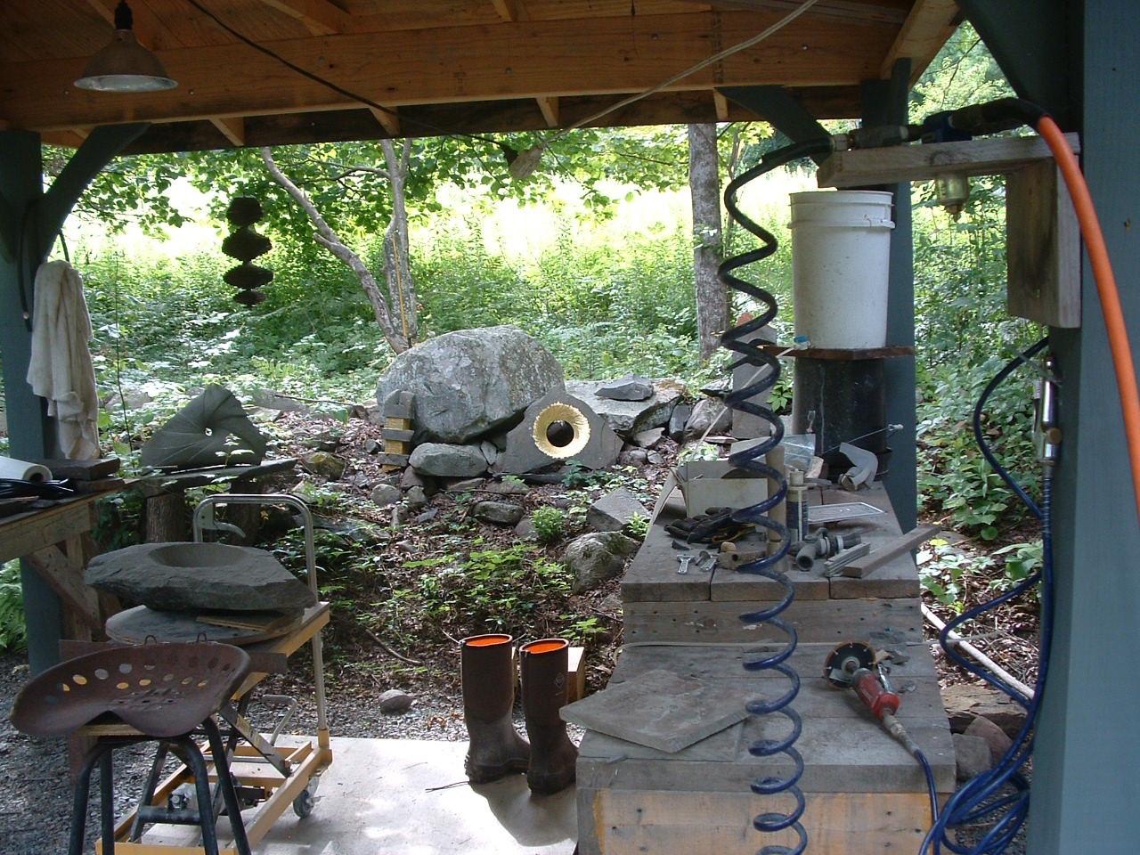 the out door sculpture studio