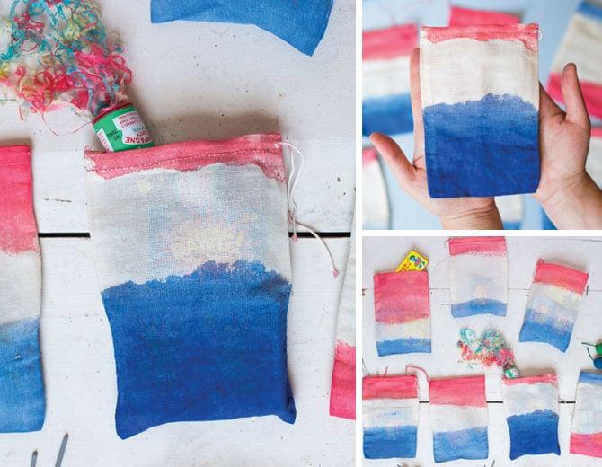 Dip Dyed Firework Bags
