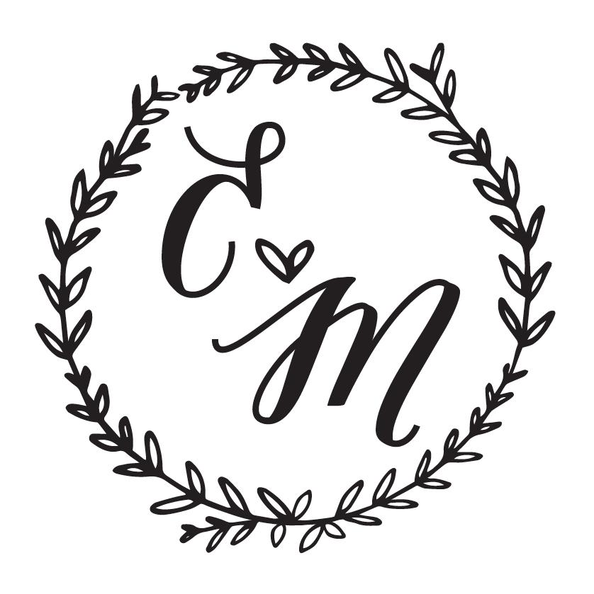 The logo for Emily and Matt's wedding