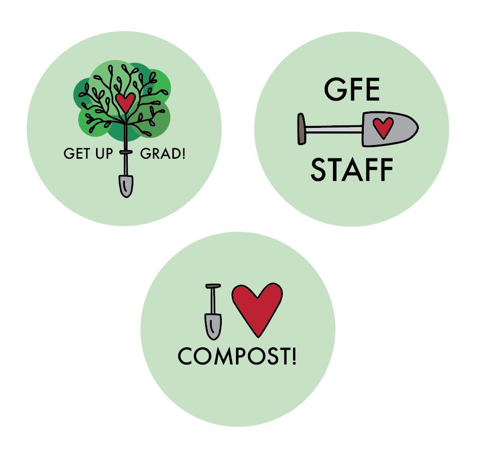 The three button designs