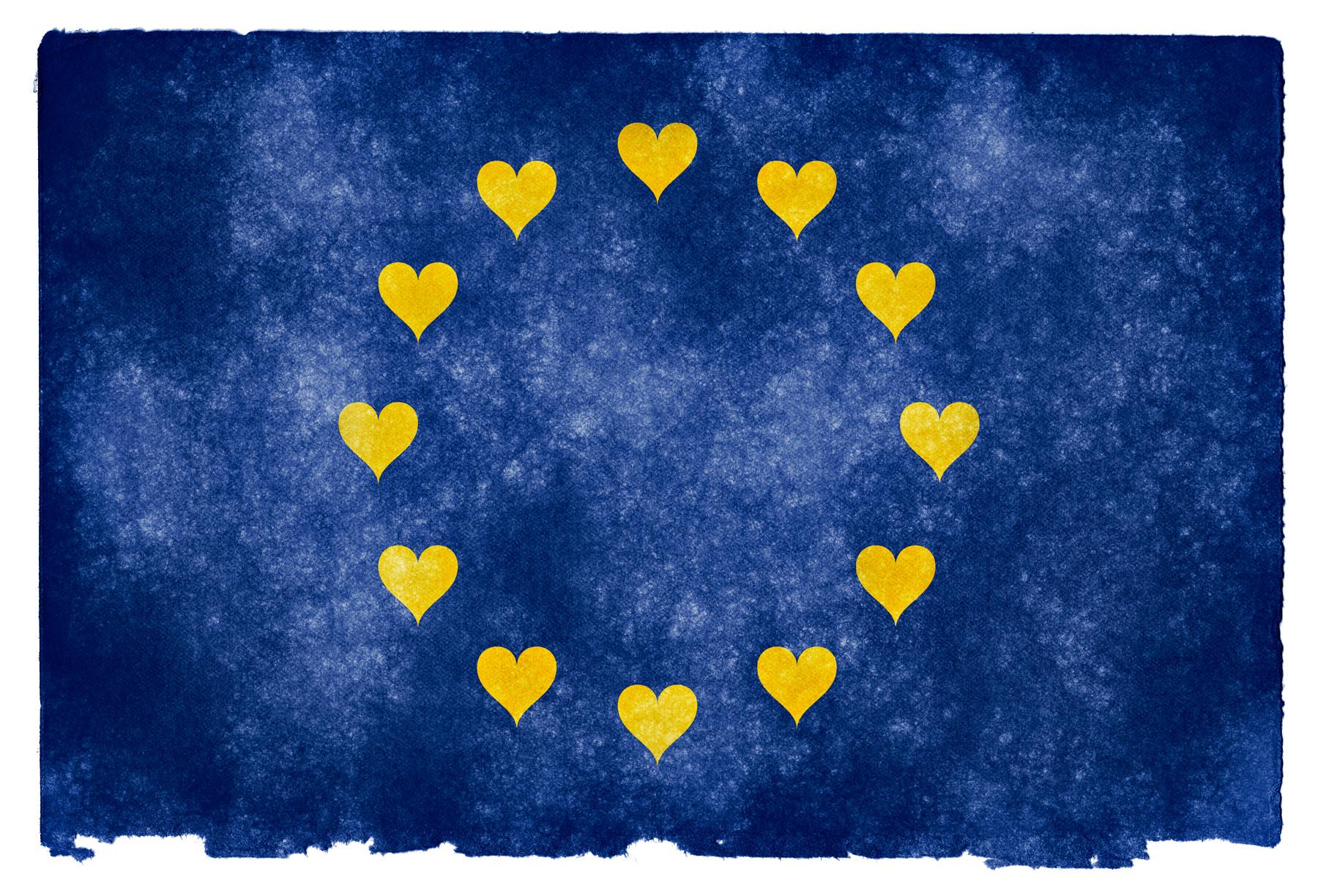 Euro Love Grunge Flag,Nicolas Raymond