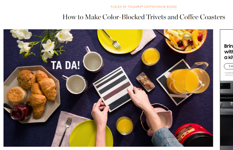 http://www.thekitchn.com/how-to-make-color-blocked-trivets-amp-coffee-coasters-240706