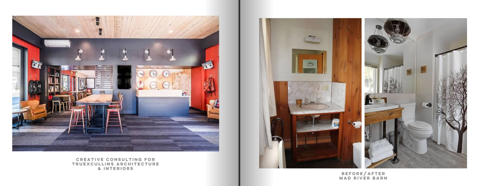creative consulting lobby design mountain modern motel jackson hole and bathroom renovation at mad river barn inn guest room interior design by joanne palmisano.png