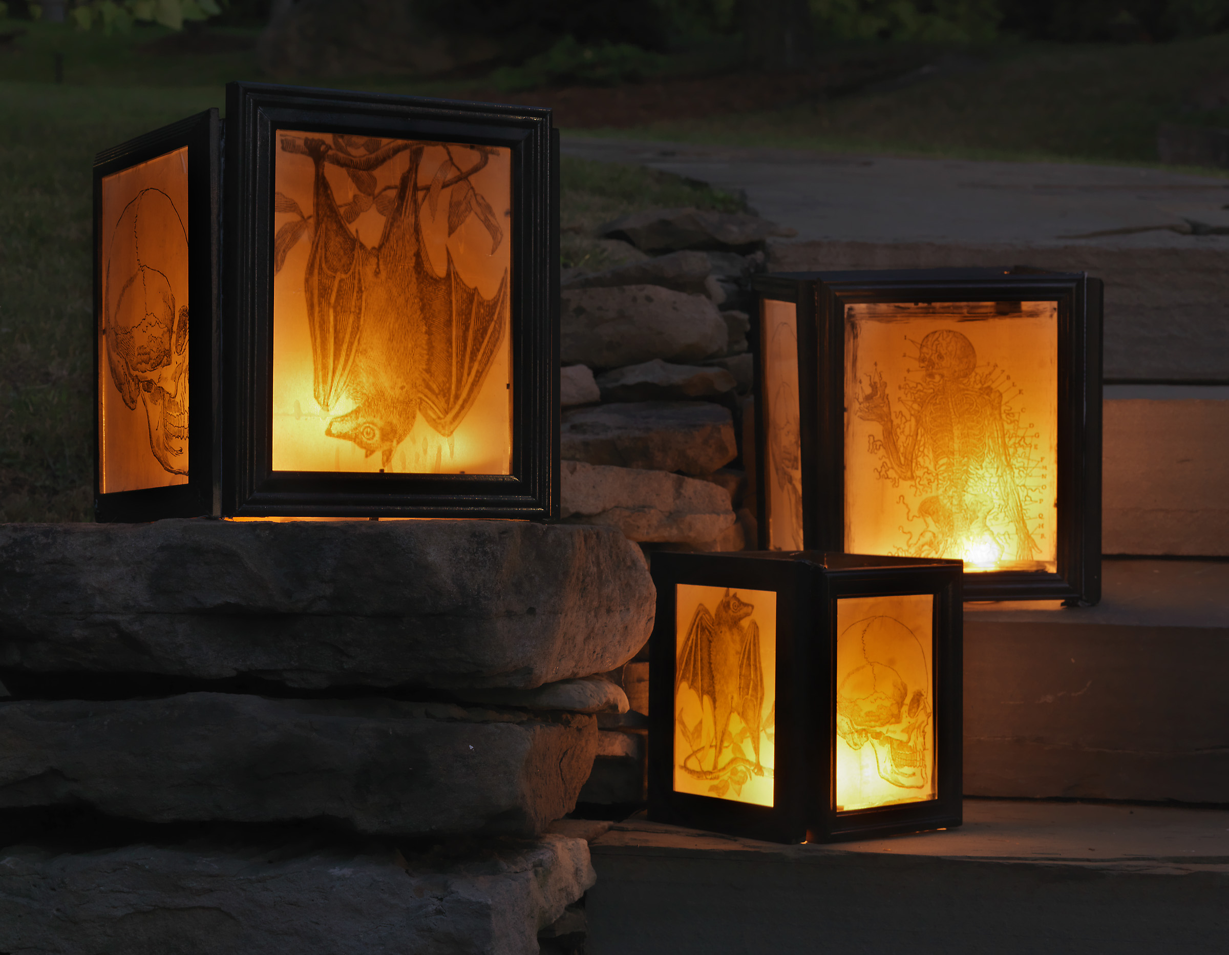 Still one of my favorite Step by Step on DIY NETWORK —  Make Your Own Walkway Holiday Lanterns . Project by Joanne Palmisano