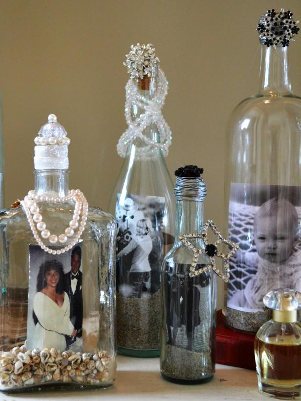 I still can't believe this DIY, recycled glass bottle picture frames (memory jars) went viral on DIY NETWORK. Crazy EASY!  HERE IS THE STEP BY STEP on DIY NETWORK.