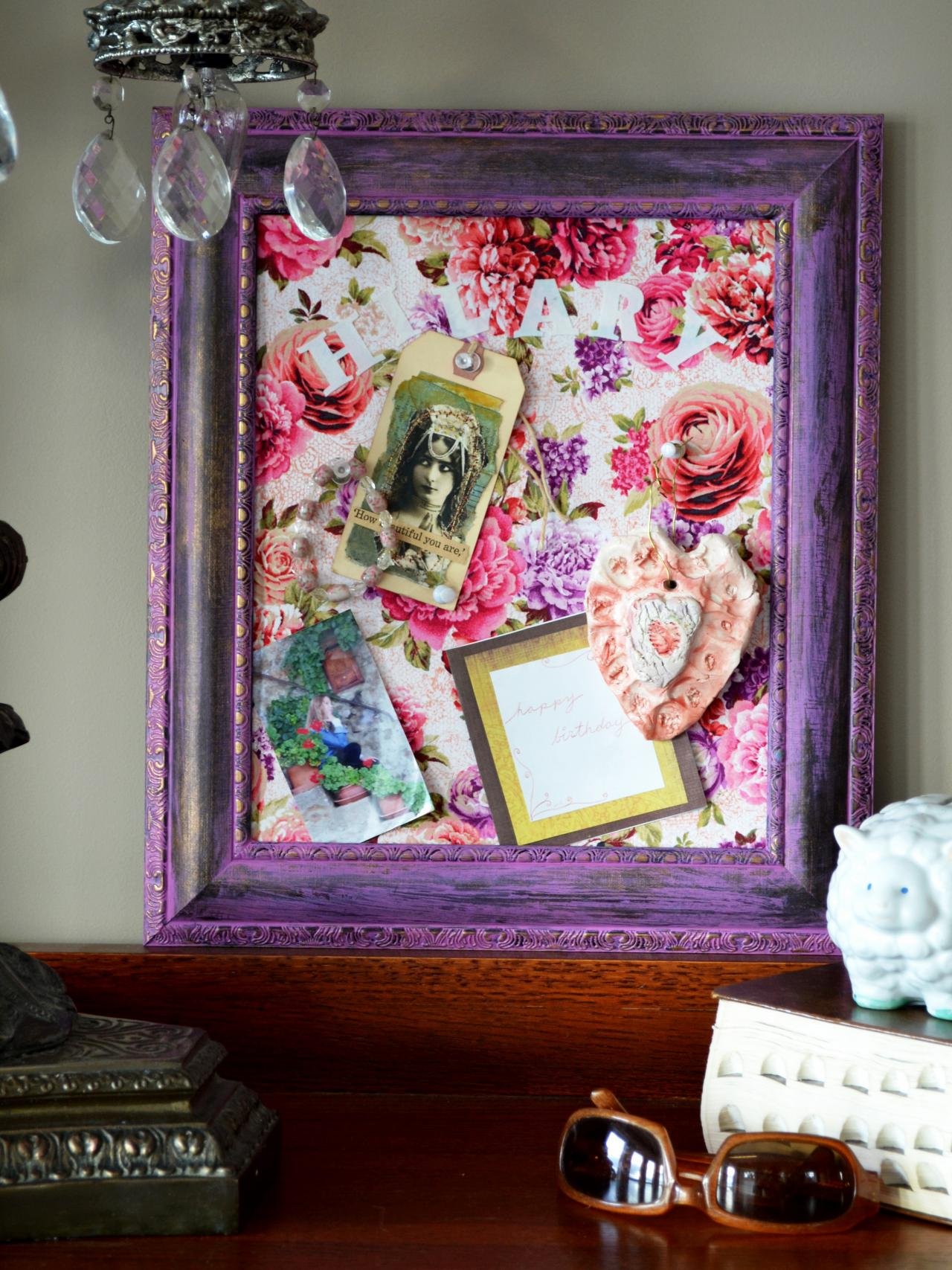 This summer's project with your kids… make a cork message board for their rooms out of an old picture frame. Crafting together is a great way to spend time together.  Here is the STEP BY STEP.