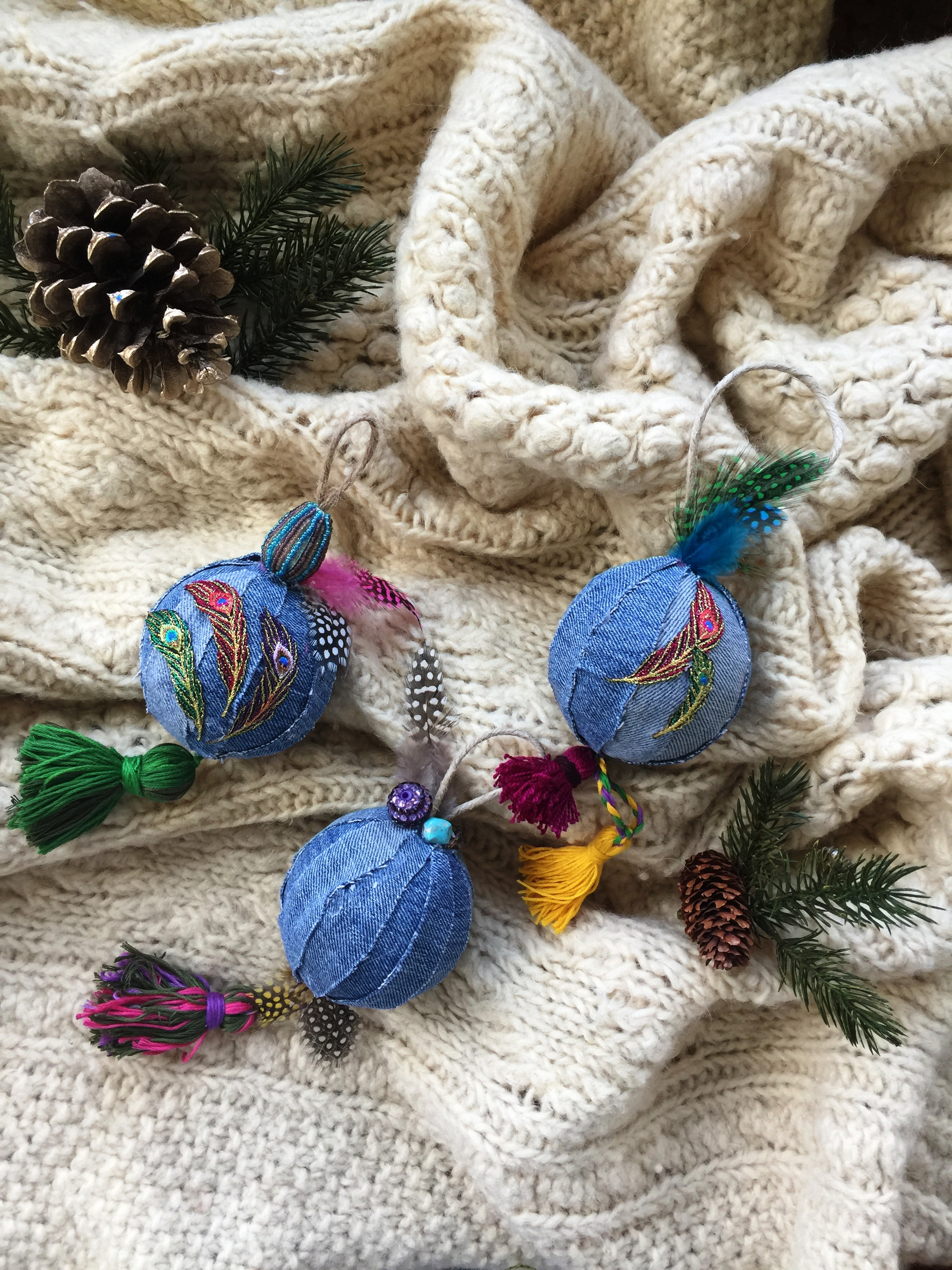 DIY Bohemian Holiday Tree Ornament by Joanne Palmisano.JPG