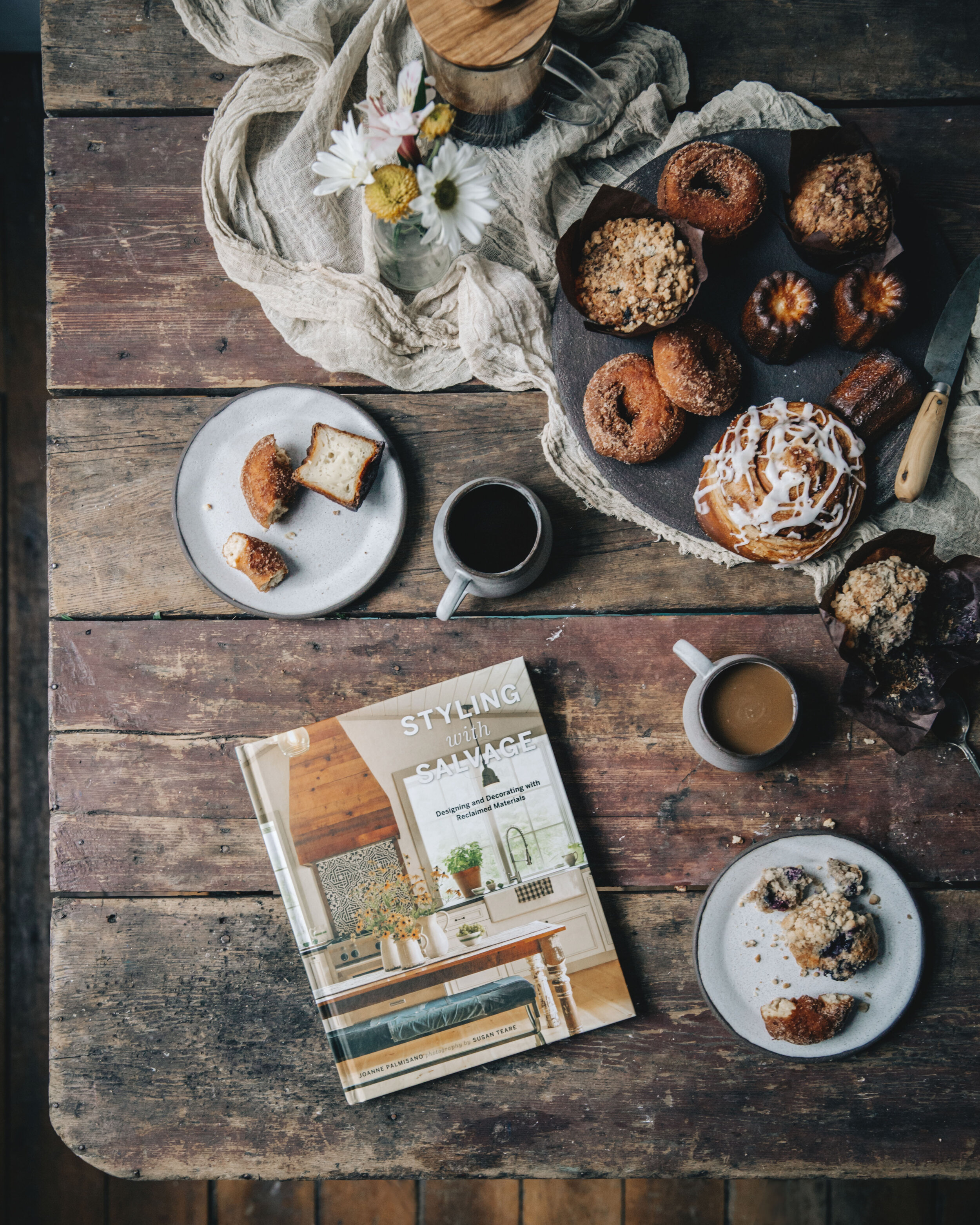 Carey Nershi took this amazing picture of my latest  Styling with Salvage  book. Seriously… I just want to sit there and eat and read. Thanks Carey — awesome shot!