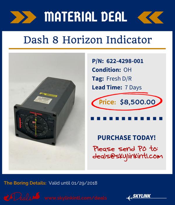 622-4298-001, Dash 8 Horizon Indicator