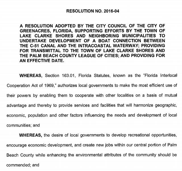 Greenacres Resolution 2016-04 (PDF)