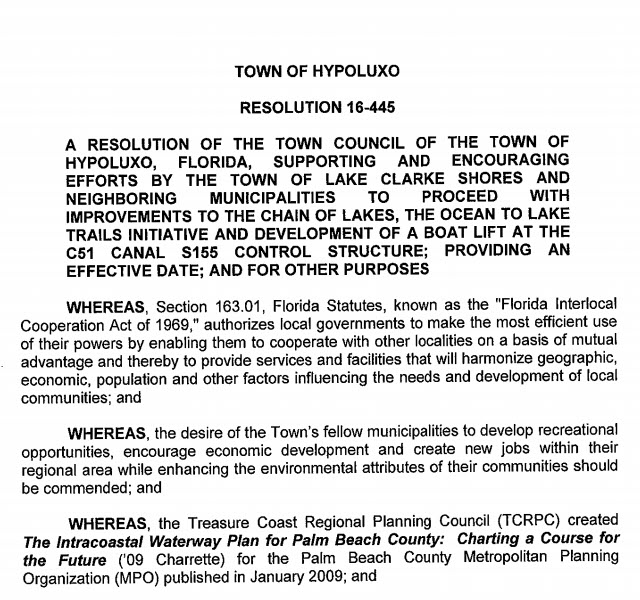 Hypoluxo Resolution 16-445 (PDF)