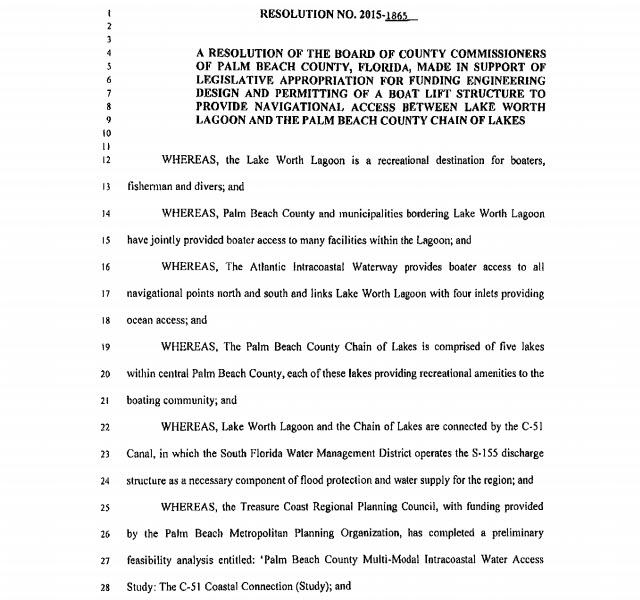 Palm Beach County Resolution 2015-1865 (PDF)