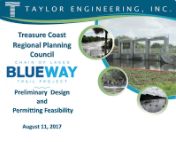Taylor Engineering Preliminary Design and Permitting Feasibility    (August 11, 2017)(PDF)