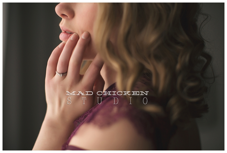 duluth minnesota boudoir session by mad chicken studio in woodland studio lingerie by victoria's secret