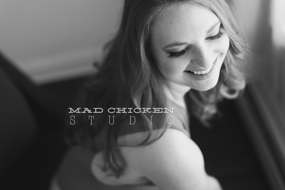 Studio Boudoir Photography Session of Rita in Duluth, MN by Jes Hayes of Mad Chicken Studio