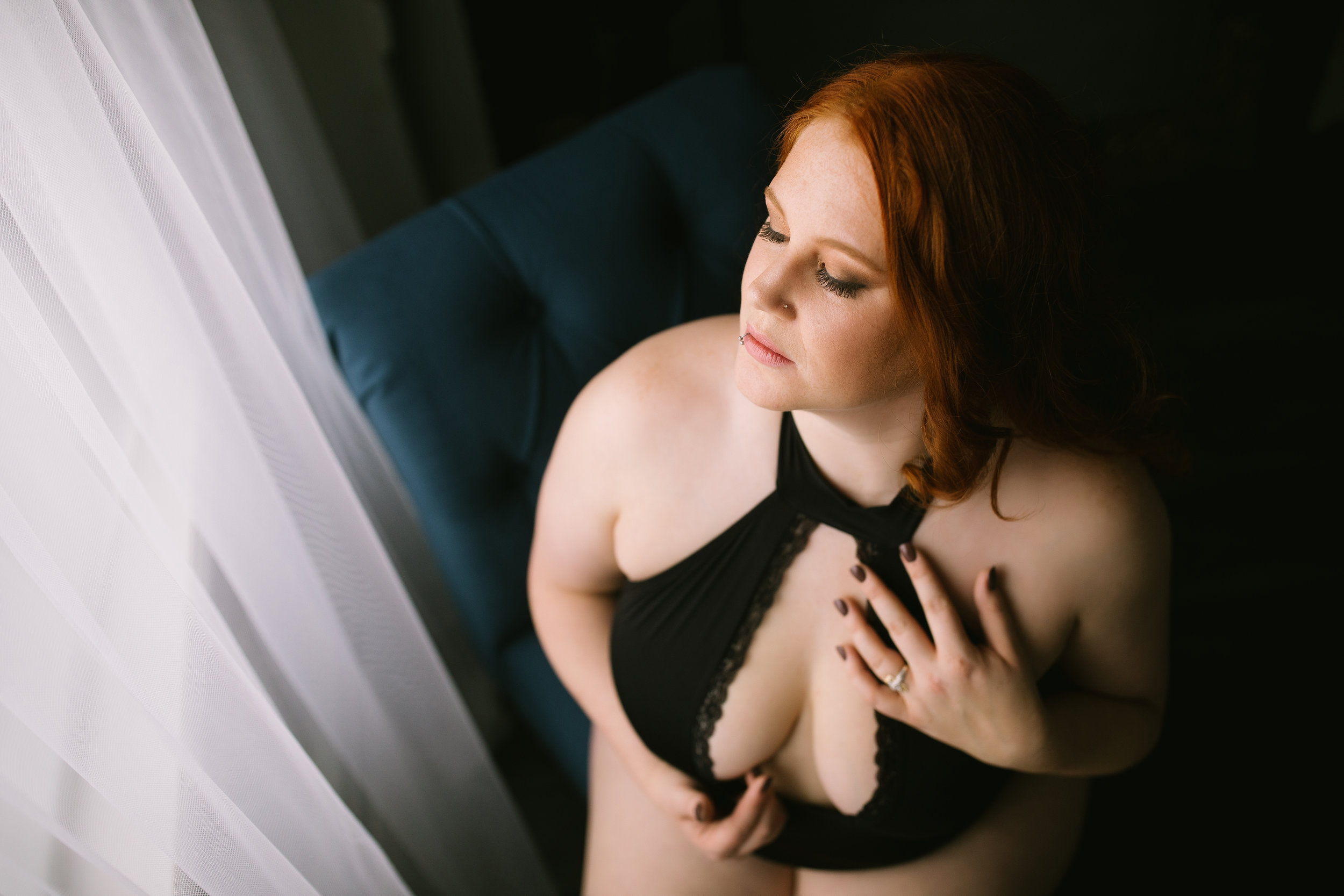 Adore Me lingerie photographed by Duluth Boudoir Photography by Mad Chicken Studio   photographer Jes Hayes