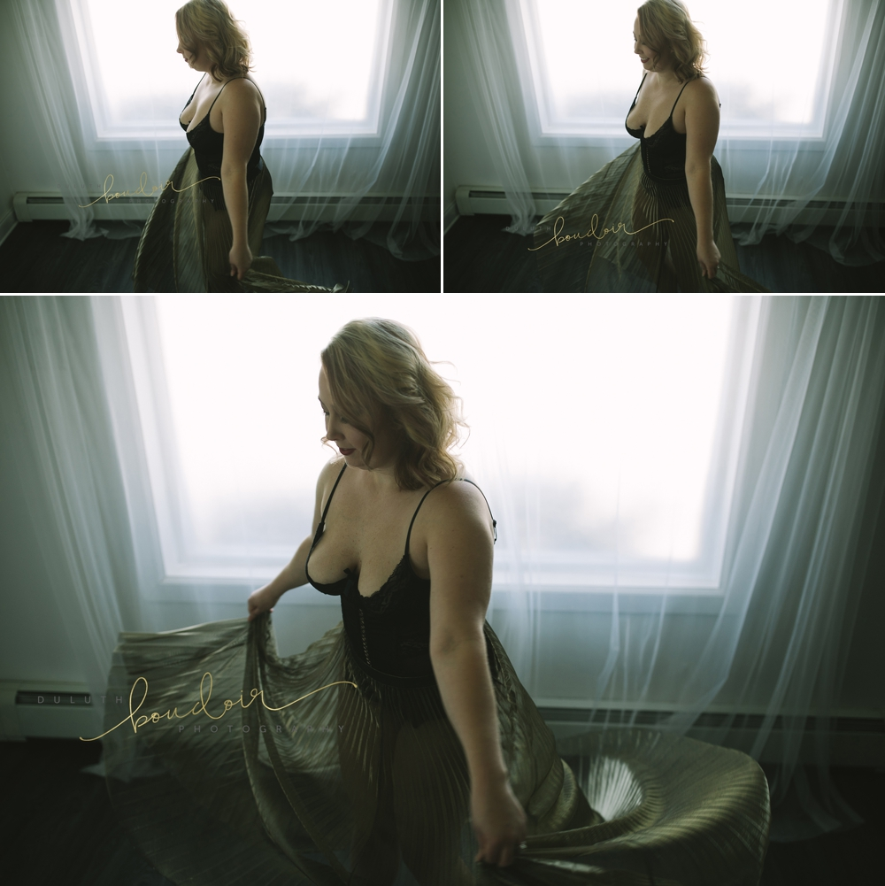 Boudoir photography session of Amber in Duluth, MN