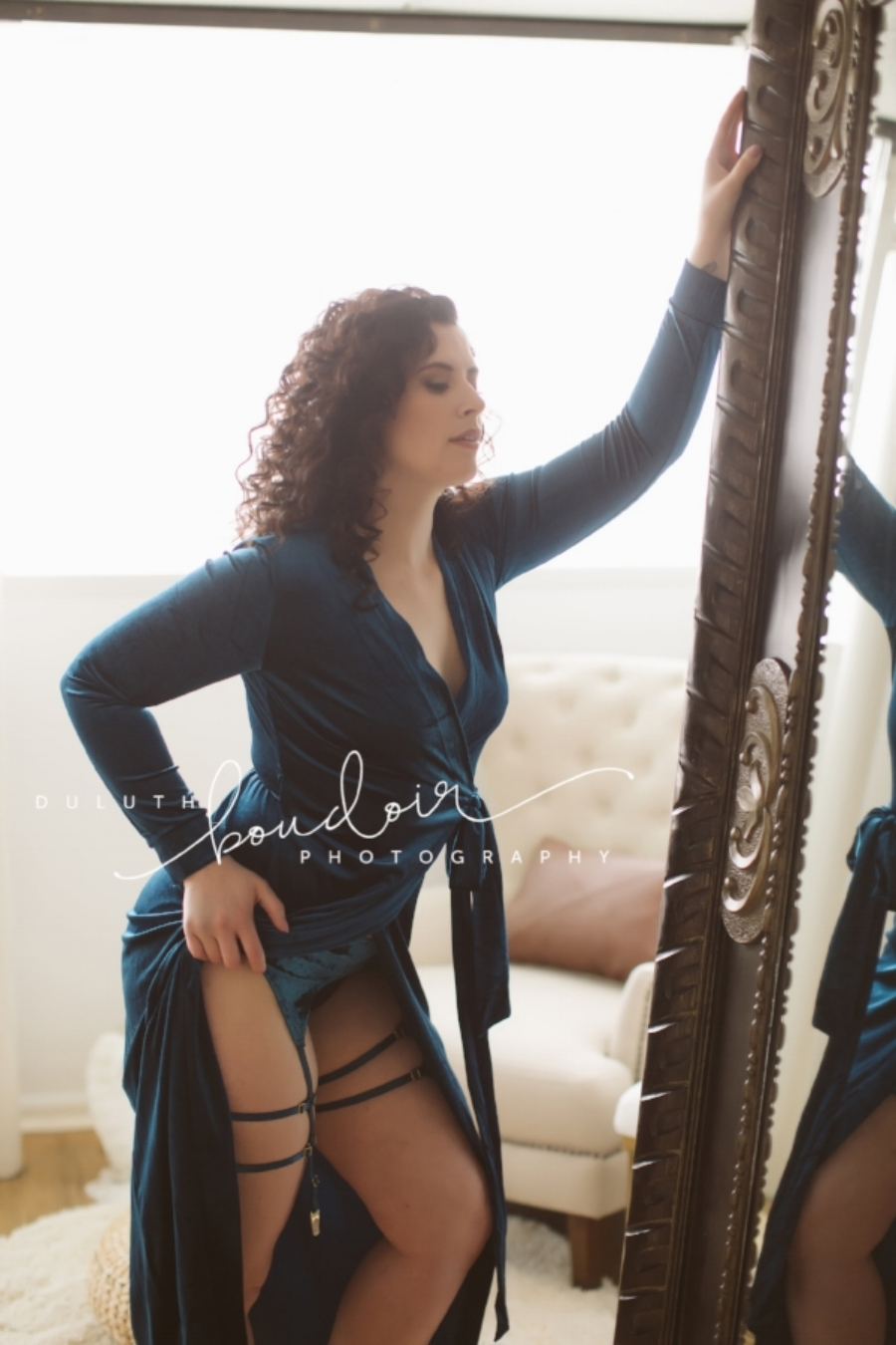Boudoir Outfit Dress and Garters