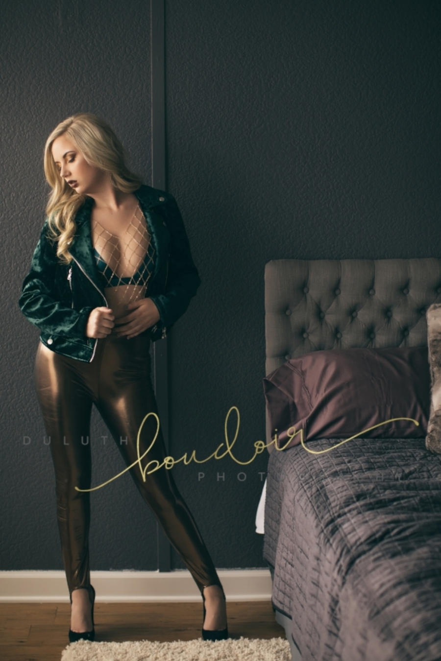 Boudoir Outfit Inspiration Leggings and Jacket