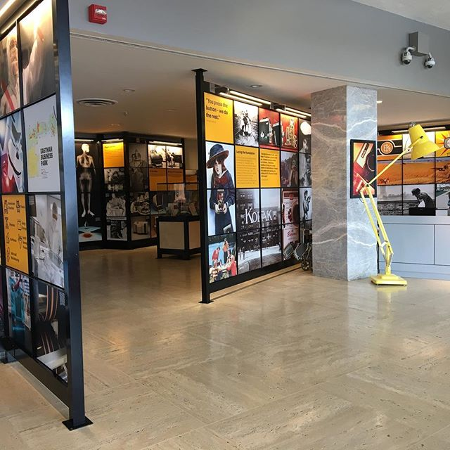 If you haven't been yet GO check out the Kodak Visitor Center! The @kodak_center now houses a FREE @kodak history exhibition (open M-F, 9-5 & during events), a temporary exhibition space featuring The Lost Coloramas by Neil Montanus and a retail shop with @uglyduckcoffee's 2nd location. Ugly Duck is open M-F, 8-2 & during events as well. Check out our latest post for more (link in profile)! #roc #rochesterny #kodak #kodakcenter #uglyduckcoffee #explorerochester @montanus.photography