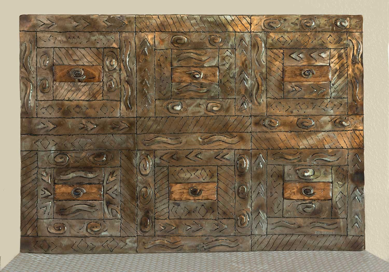 Quilt Wood Accent