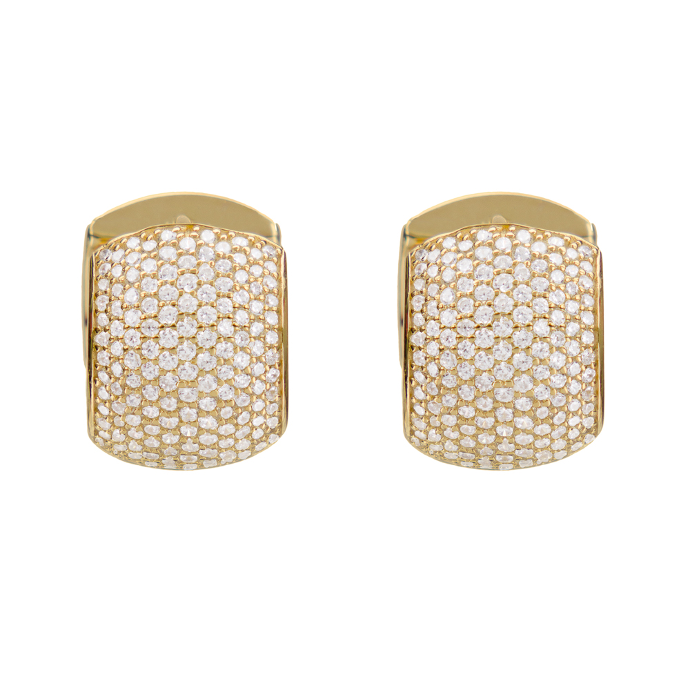 Large Huggie Earring, Gold