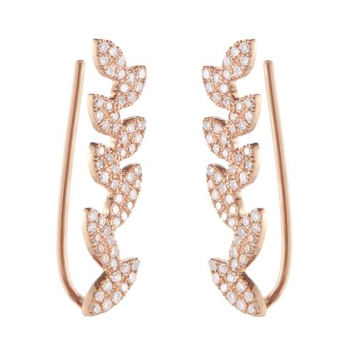 Flourish Earring, Rose Gold