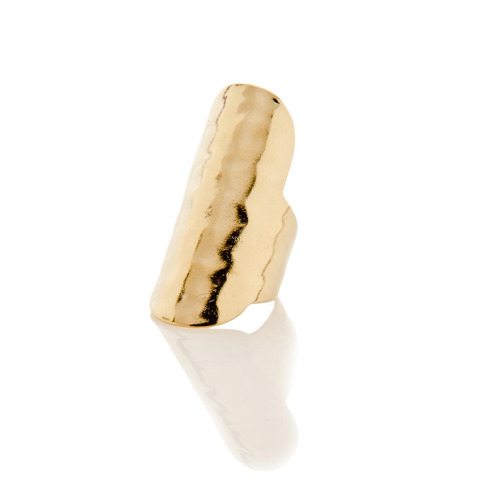 Medium Hammered Ring