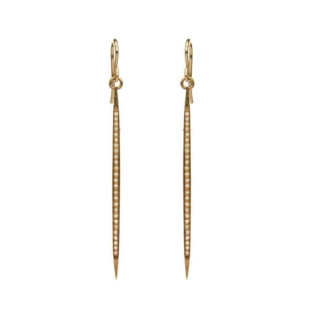 Diamond Stick Earring, Gold