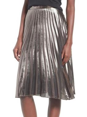 ASTR Metallic Skirt