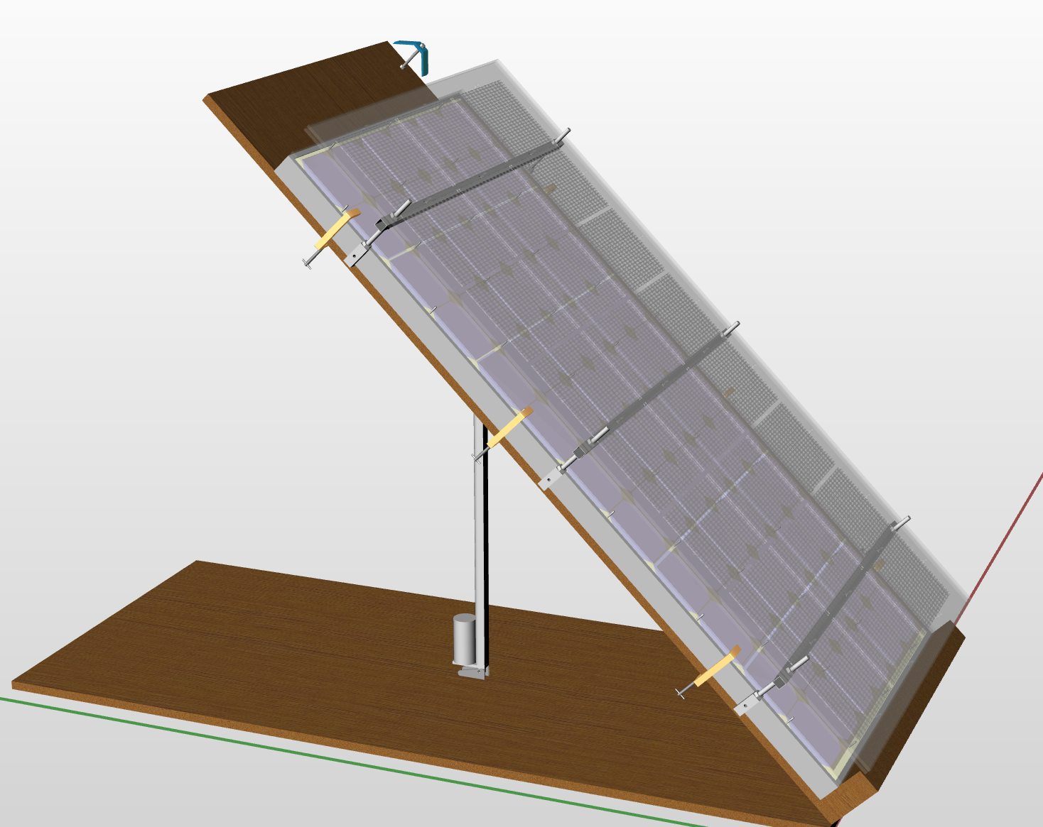3D model of a solar panel with the PSC™ glass coating