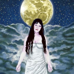 The Moon Card of the Tarot represents the emotional, intuitive and unconscious mind. She teaches us that emotional intelligence balanced by logical intelligence is a source of great internal and external power and gives us the ability to move between the mundane, relative world in front of our eyes and the absolute, infinite world behind our eyes.