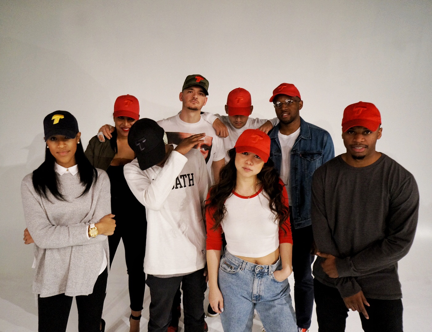 Photo taken from Tazz's T2 photoshoot. Dope hats!