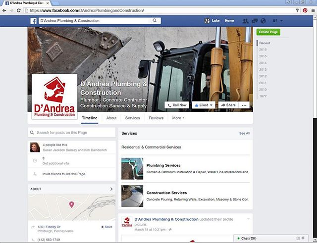 """Like us on Facebook! """"One call will solve it all!"""" 412-653-1749 DAndreaPlumbingandConstruction.com  Serving Southwestern PA since 1977, D'Andrea Plumbing & Construction is your most reliable resource for residential and commercial projects.  #DAndreaPlumbingandConstruction #PittsburghPlumber #PittsburghConstruction  #Pittsburgh #PittsburghPA #SouthwesternPA #PittsburghLife #PittsburghProud  #PittsburghContractor #PittsburghRealEstate #PAhomes #PAproperties"""