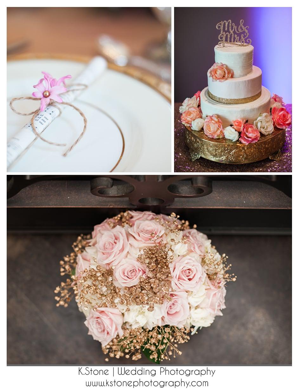 Gold details | Pops of pink
