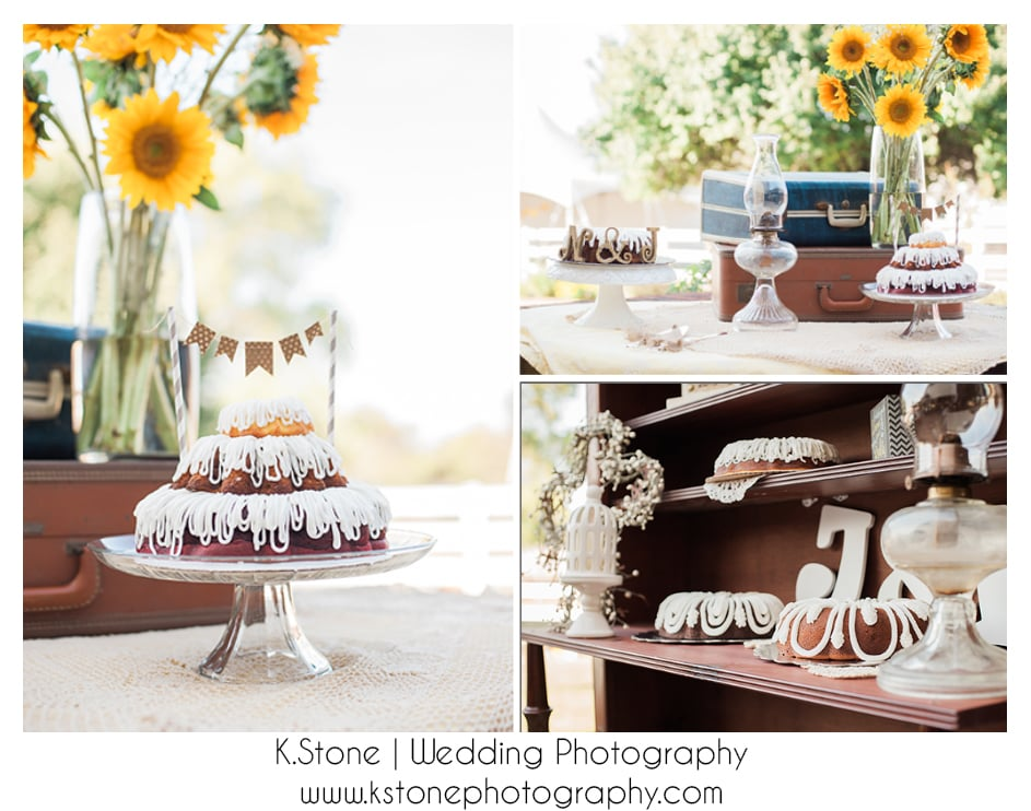 Naked Cakes with pennant banners