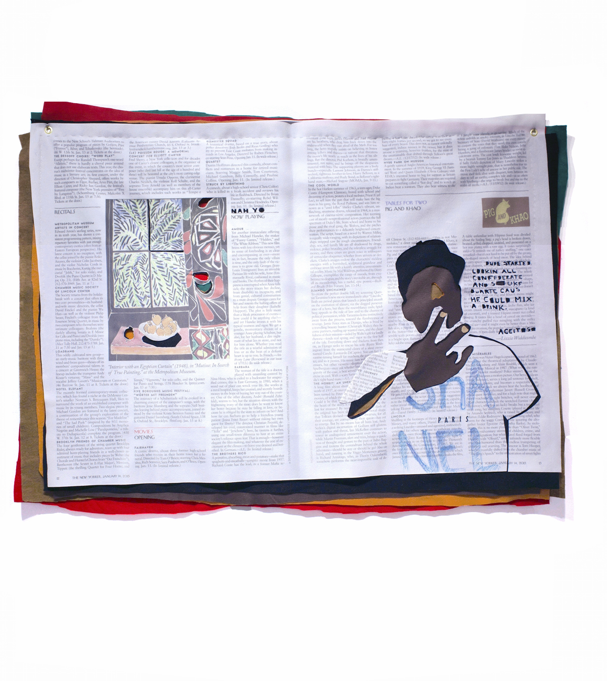 Matisse Peace  2013 Digital Print on Fabric/Felt